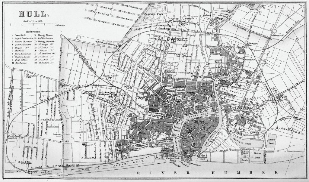 1880 Map of Hull carriehenderson.uk